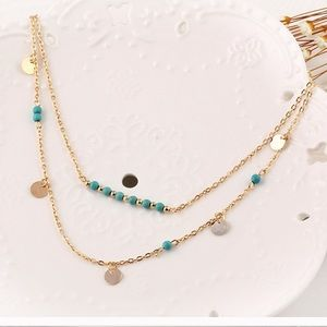 Good and turquoise double necklace.